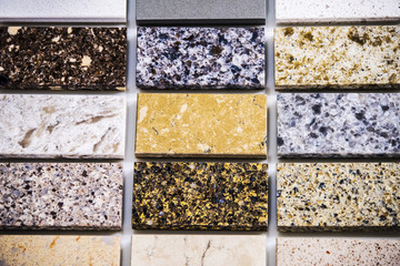 Stone kitchen counter color samples