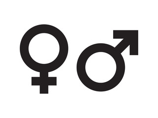Gender symbol vector Wall mural