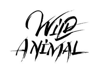 Wild animal calligraphy