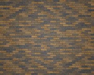 3D rendering brown and black brickwall