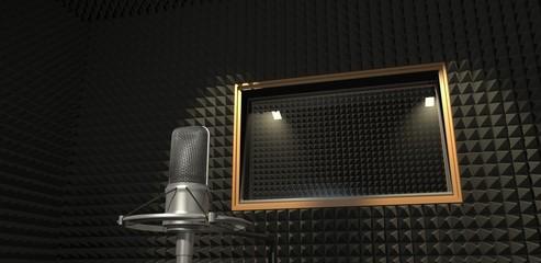 Sound recording studio. 3D illustration