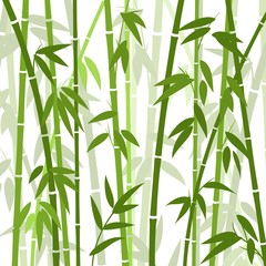Wall Mural - Chinese or japanese bamboo grass oriental wallpaper vector illustration