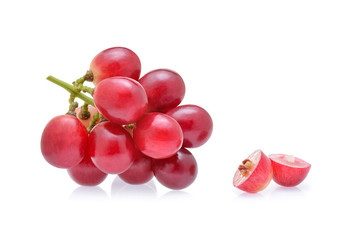 red grapes isolated on white background. Fototapete