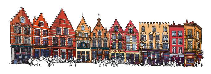 In de dag Art Studio Belgium, Bruges - old brick house