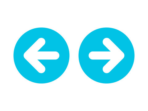Left right or back next arrow icon blue