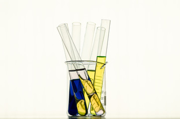 laboratory test tubes,science background