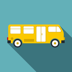 Bus icon. Flat illustration of bus vector icon for web
