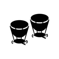 Percussion drum icon. Vector illustration.