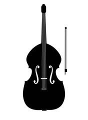 Contrabass black icon. Vector illustration.