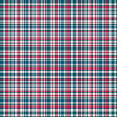 Checkered fabric tartan textile. Vector seamless pattern.