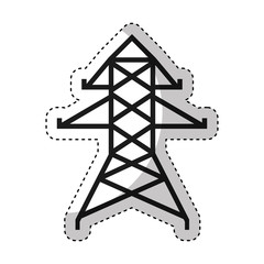 energy tower isolated icon vector illustration design