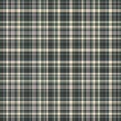Checkered fabric tartan textile. Vector vintage seamless pattern.