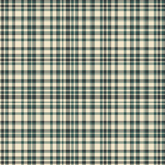 Checkered fabric tartan textile. Vector vintage seamless pattern.