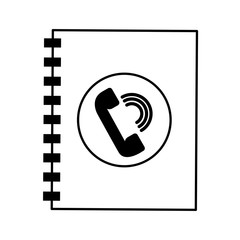 phonebook service isolated icon vector illustration design