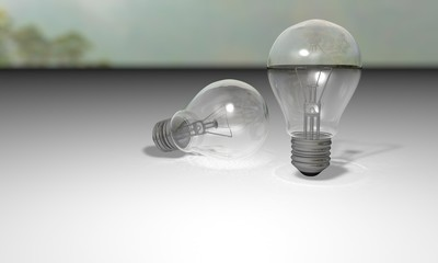 Bulb three-dimensional realistic model studies