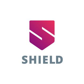 Letter S shield logo icon design template elements