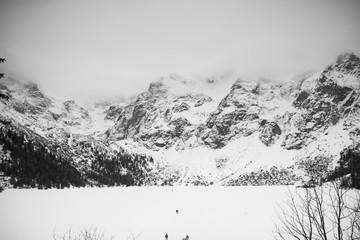 Mountains - Zakopane in the winter - monochrome