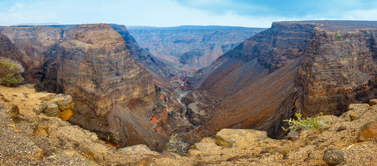 Canyon begins where the Great African Rift