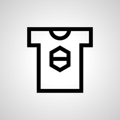 shirt icon. isolated sign