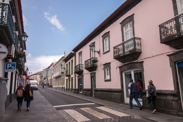 Typical urban architecture of Azores