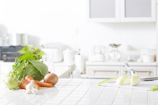 キッチンの野菜