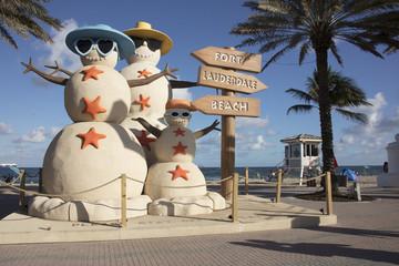 Sand Snowmen Fort Lauderdale Florida