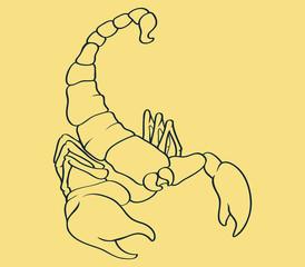 Scorpion Line Art