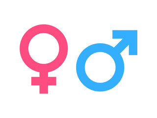 Gender symbol pink and blue