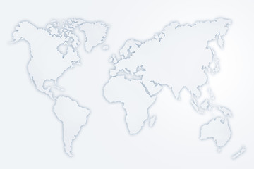 Abstract illustration of world map