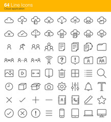 Cloud application icons