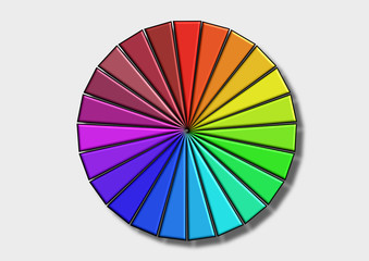 Color wheel / The Colored wheel with shadow on a white background.