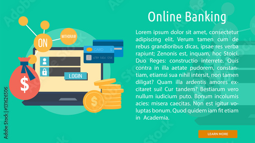 """Online Banking Conceptual Banner"" Stock image and royalty ..."