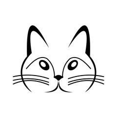 Pet shop logo Cat vector icon.