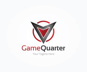 Game Quarter Logo Template