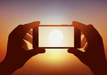Photo - Smartphone - Coucher de soleil - appareil photo