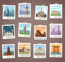 Vector Travel instant Photos Collection
