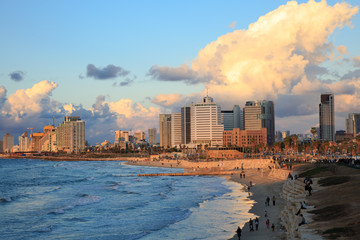 Panoramic view of tel Aviv from Jaffa