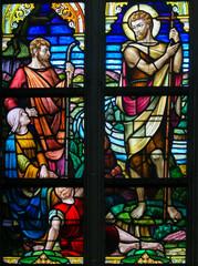 Fototapete - Stained Glass - Saint John the Baptist