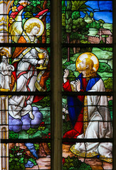 Stained Glass - Jesus in the Garden of Gethsemane