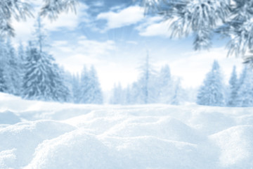 snow space and winter time