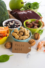Products rich of folic acid