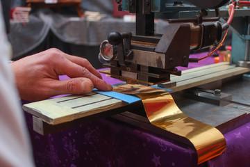 Book binder embossing paper card
