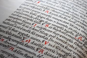 Vintage religious calligraphic text