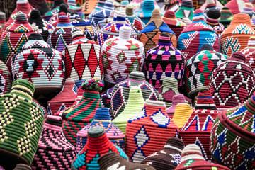 Korbwaren -  im Souk von Marrakesch
