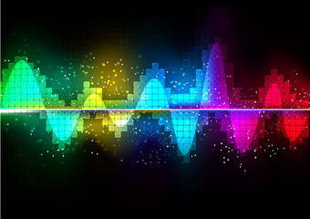 vector background abstract technology communication wave