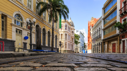 The historic streets of Recife in Pernambuco, Brazil
