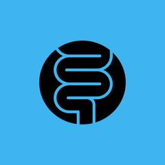 intestines icon. flat design