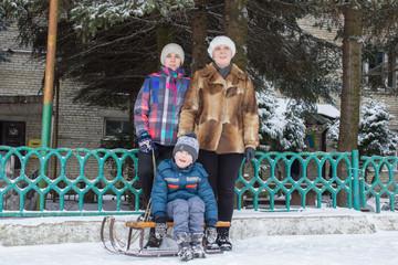 Family photo winter