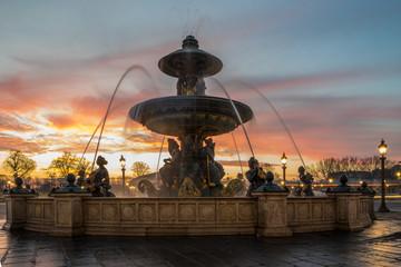 Fountain at Place de la Concorde in Paris