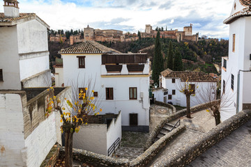 Corner Albaicin neighborhood in Granada.